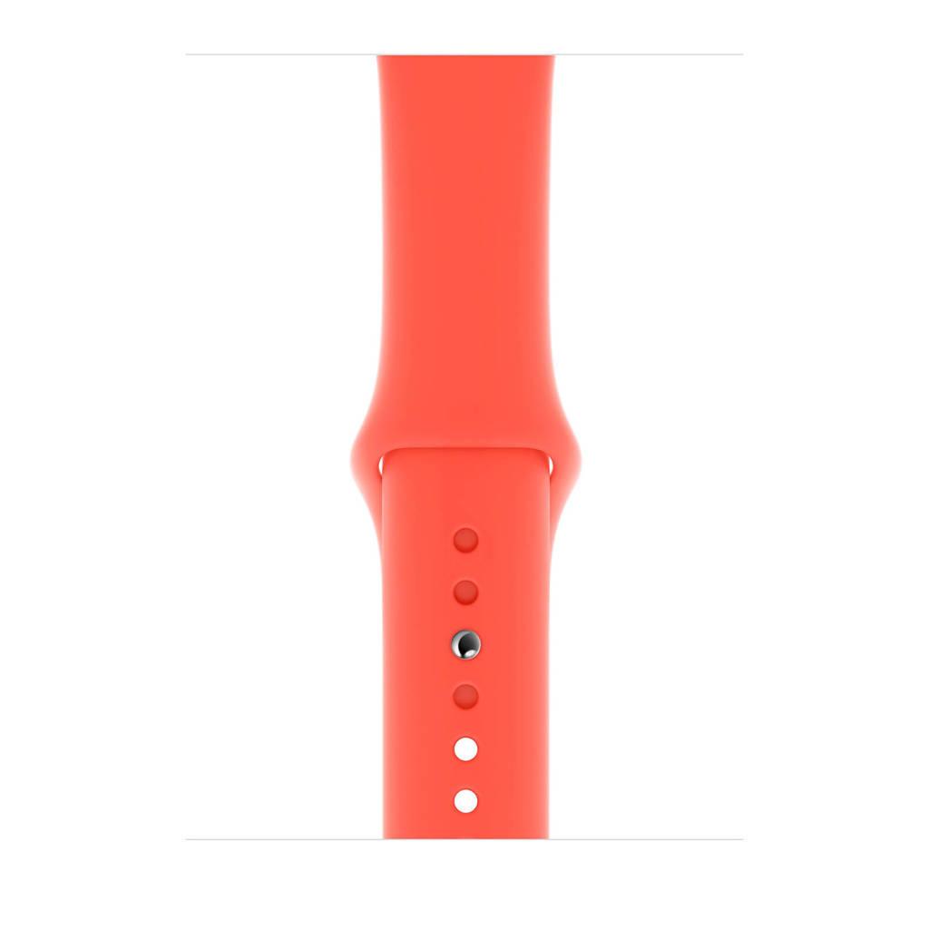 Apple Watch siliconen sport horlogeband oranjerood 44mm, Oranjerood