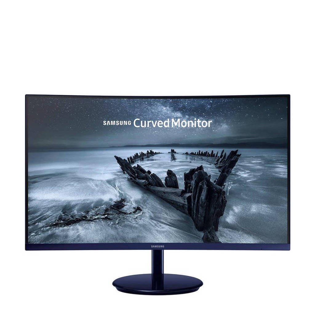 Samsung LC27H580FDUXEN 27 inch Full HD curved monitor, Zwart, Blauw