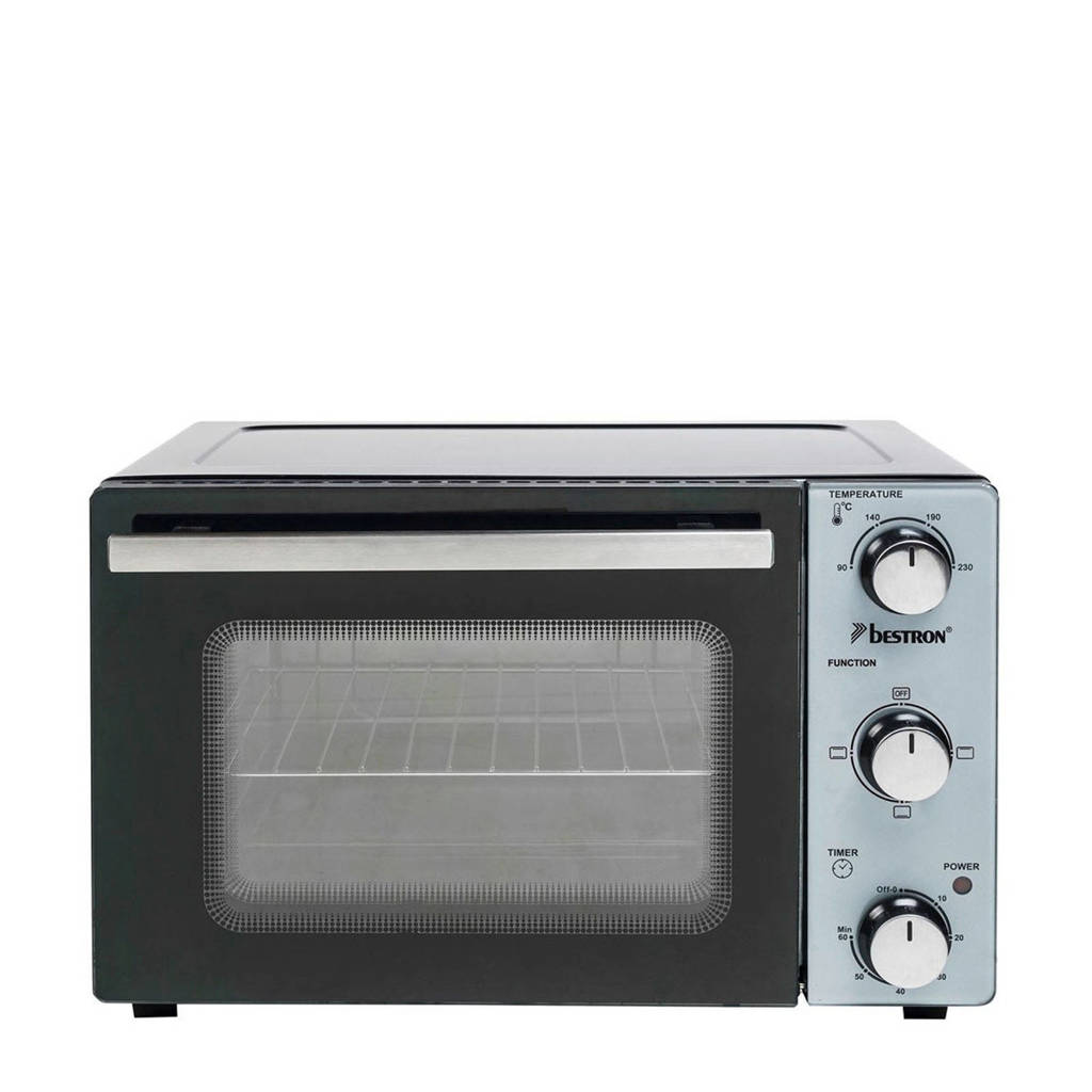 Bestron AOV20 grill-bakoven, Zwart, zilver