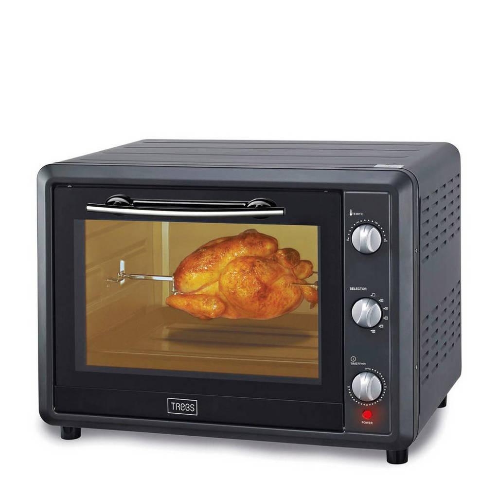 Trebs TEO55LCR50 Comfortcook grill/bakoven, Zwart/antraciet