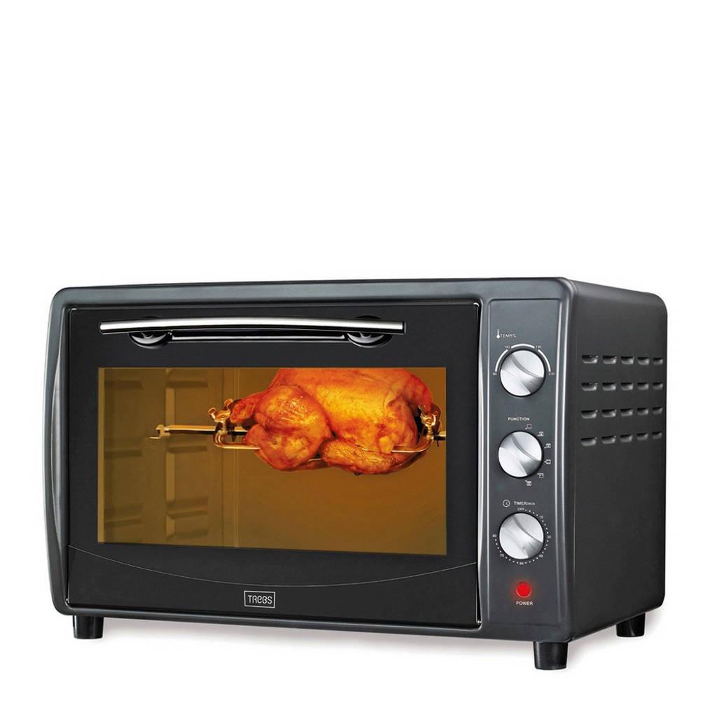 Trebs TEO42LCR50 Comfortcook grill/bakoven, Zwart/antraciet