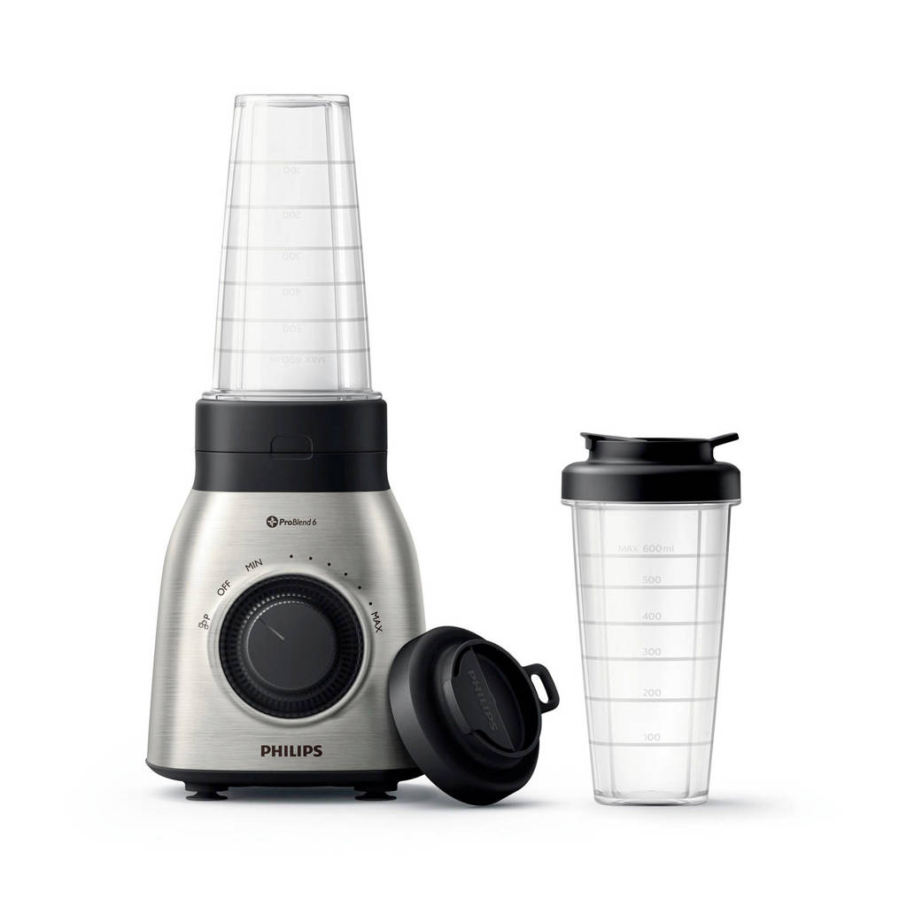 Philips HR3551/00 Daily Collection blender, Black,Metallic