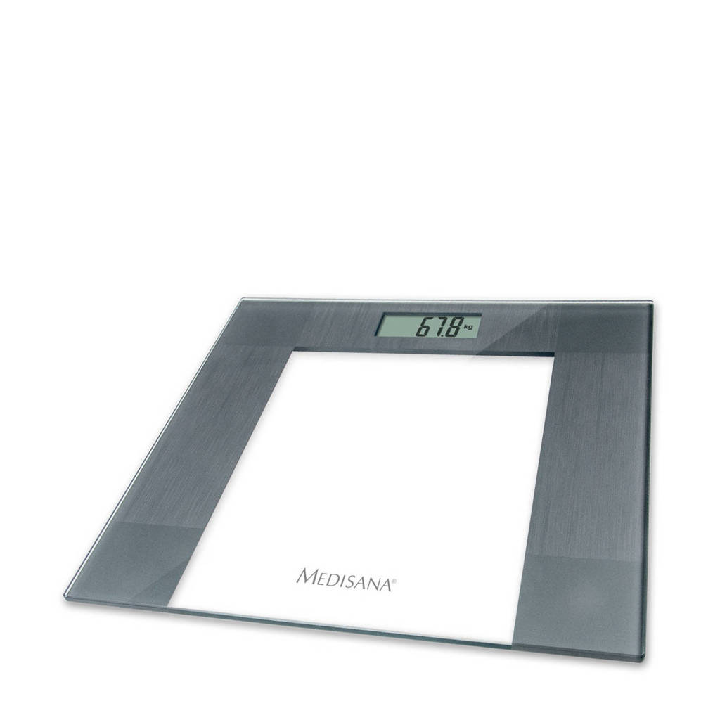 Medisana PS 400 glazen weegschaal, Roestvrijstaal