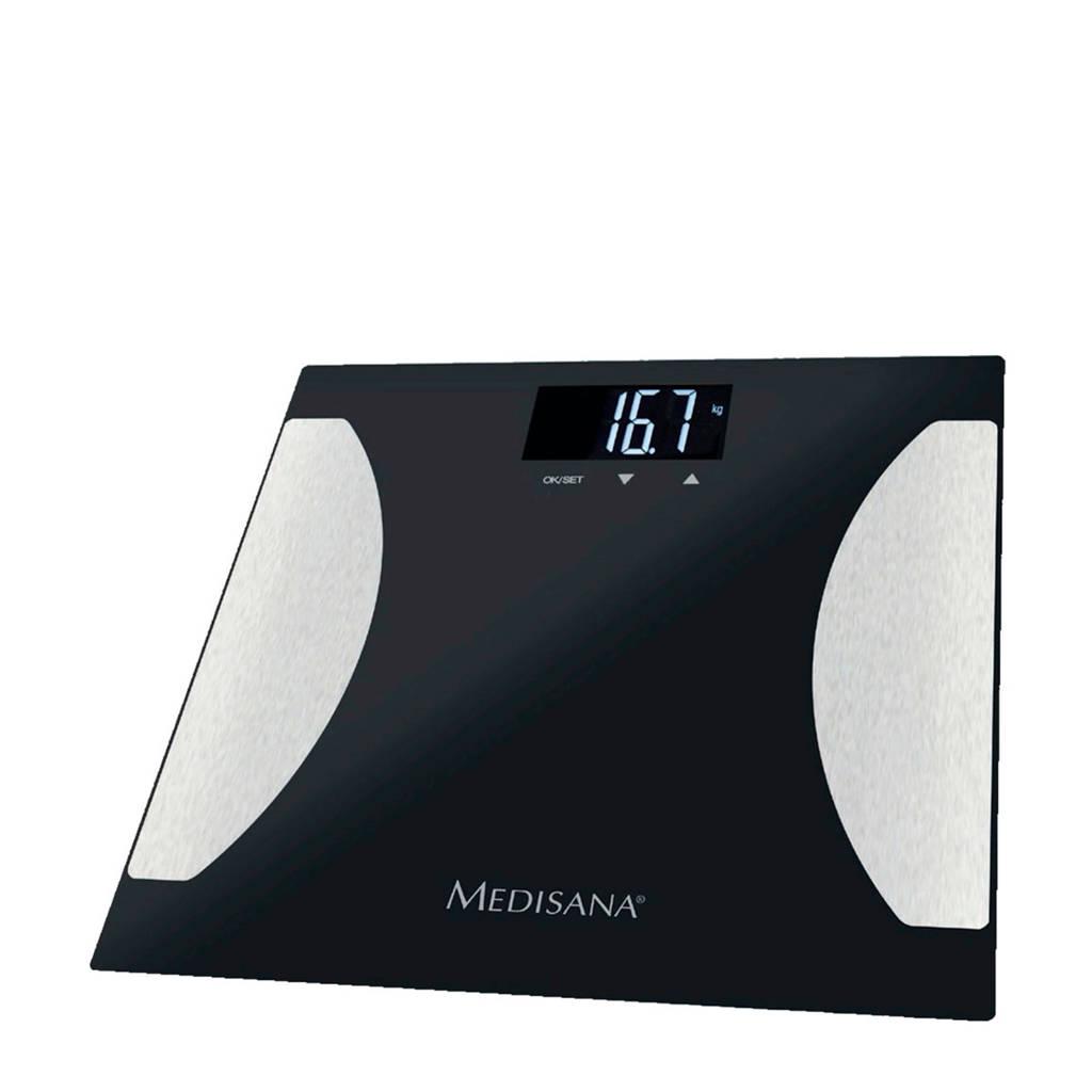 Medisana BS475 Lichaamsanalyse weegschaal BS 475, Zwart