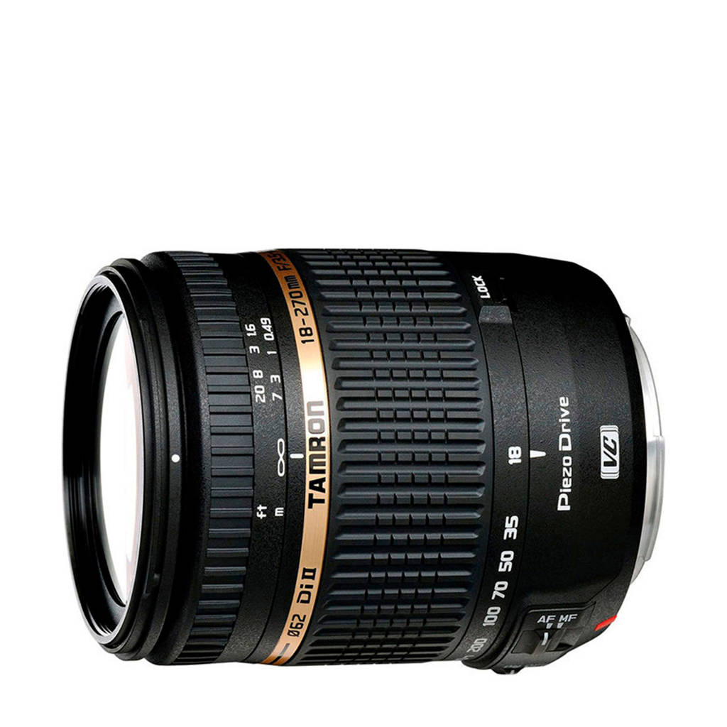 Tamron 18-270mm F/3.5-6.3 Di II VC PZD Canon telezoom lens, Zwart
