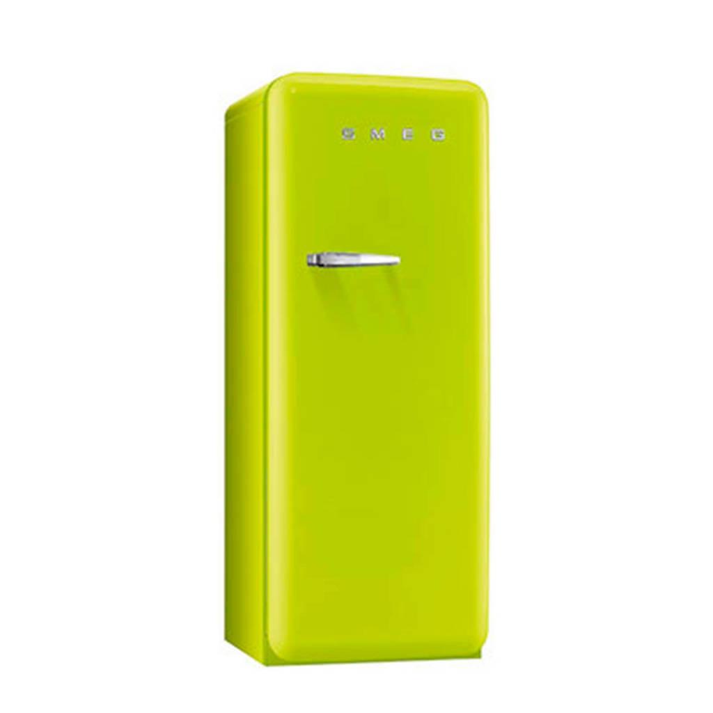 Smeg FAB28RVE1 koelkast, Limegroen