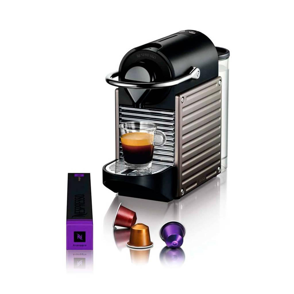 Krups Pixie Electric Titanium XN3005 Nespresso machine, Zwart