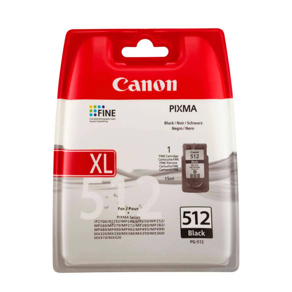 Canon PG512 inktcartridge zwart, Zwart