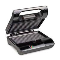 Princess 117000 compact grill, Zwart, zilver
