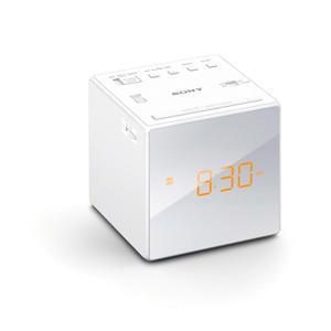 ICFC1 wekkerradio wit-zilver