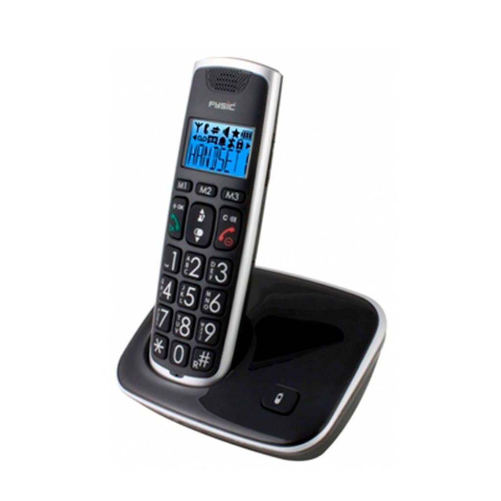 Fysic FX-6000 huisseniorentelefoon, Zwart