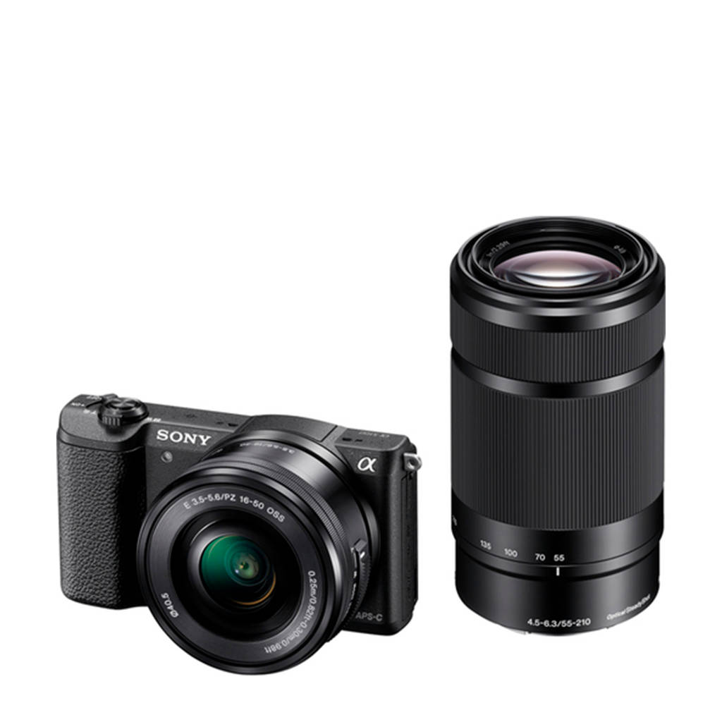Sony Alpha A5100 + 16-50mm + 55-210mm systeem camera