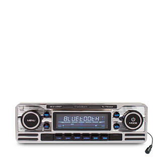 RCD120BT 1 DIN Retro autoradio chroom