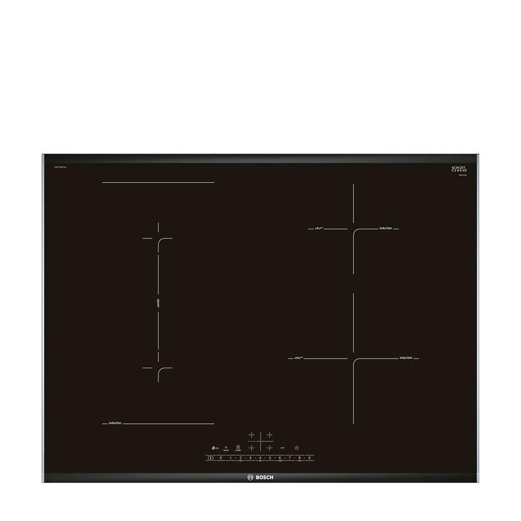 Bosch PVP775FC1E inbouw inductiekoopplaat, Zwart/ Roestvrij staal