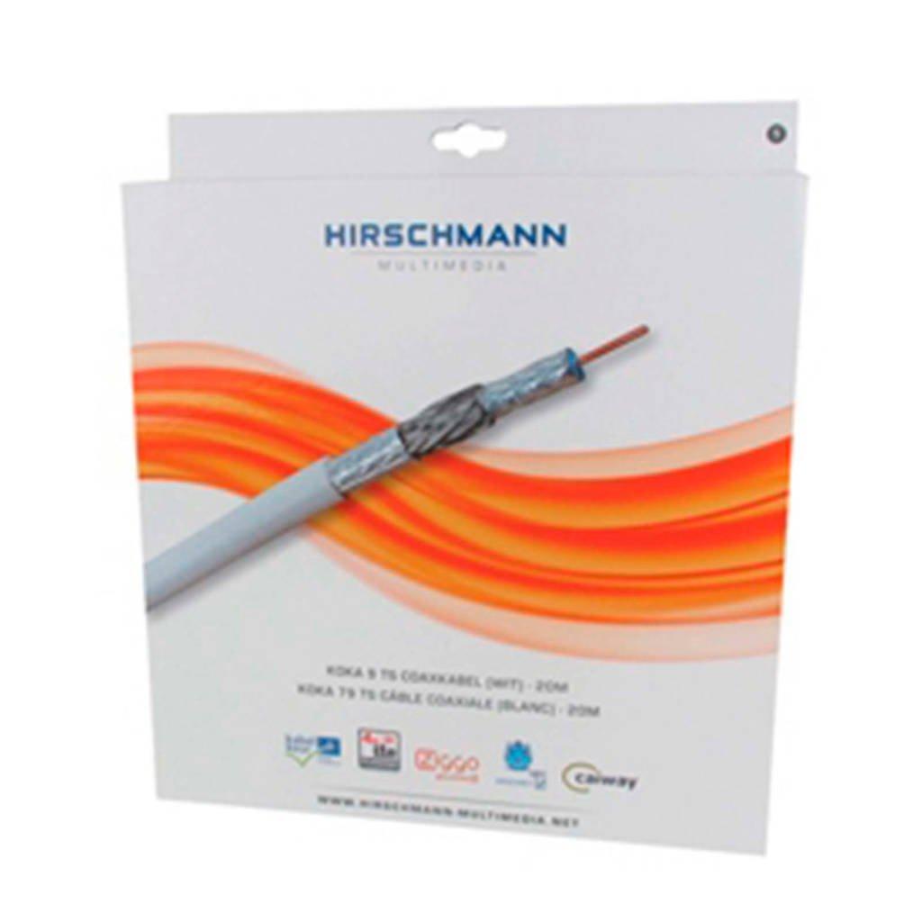 Hirschmann antenne kabel KOKA9TS 20 meter, Wit