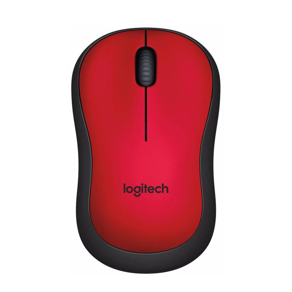 Logitech M220 Silent draadloze muis, Rood