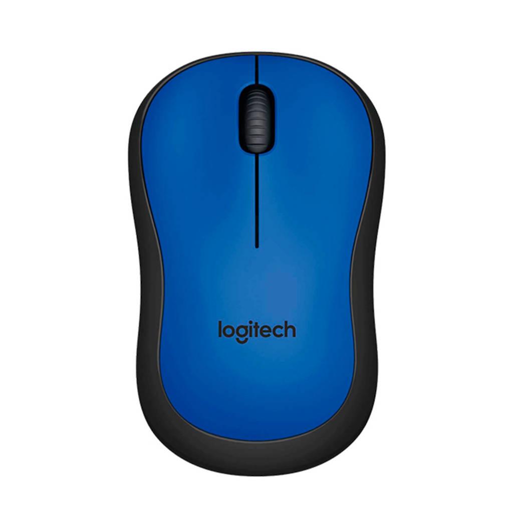 Logitech M220 Silent draadloze muis, Blauw