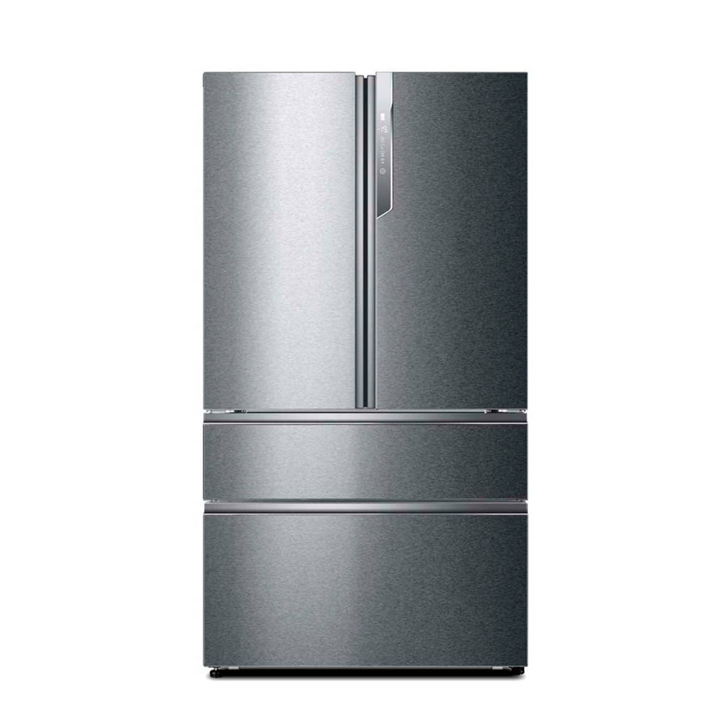 Haier HB25FSSAAA Amerikaanse koelkast, Zilver