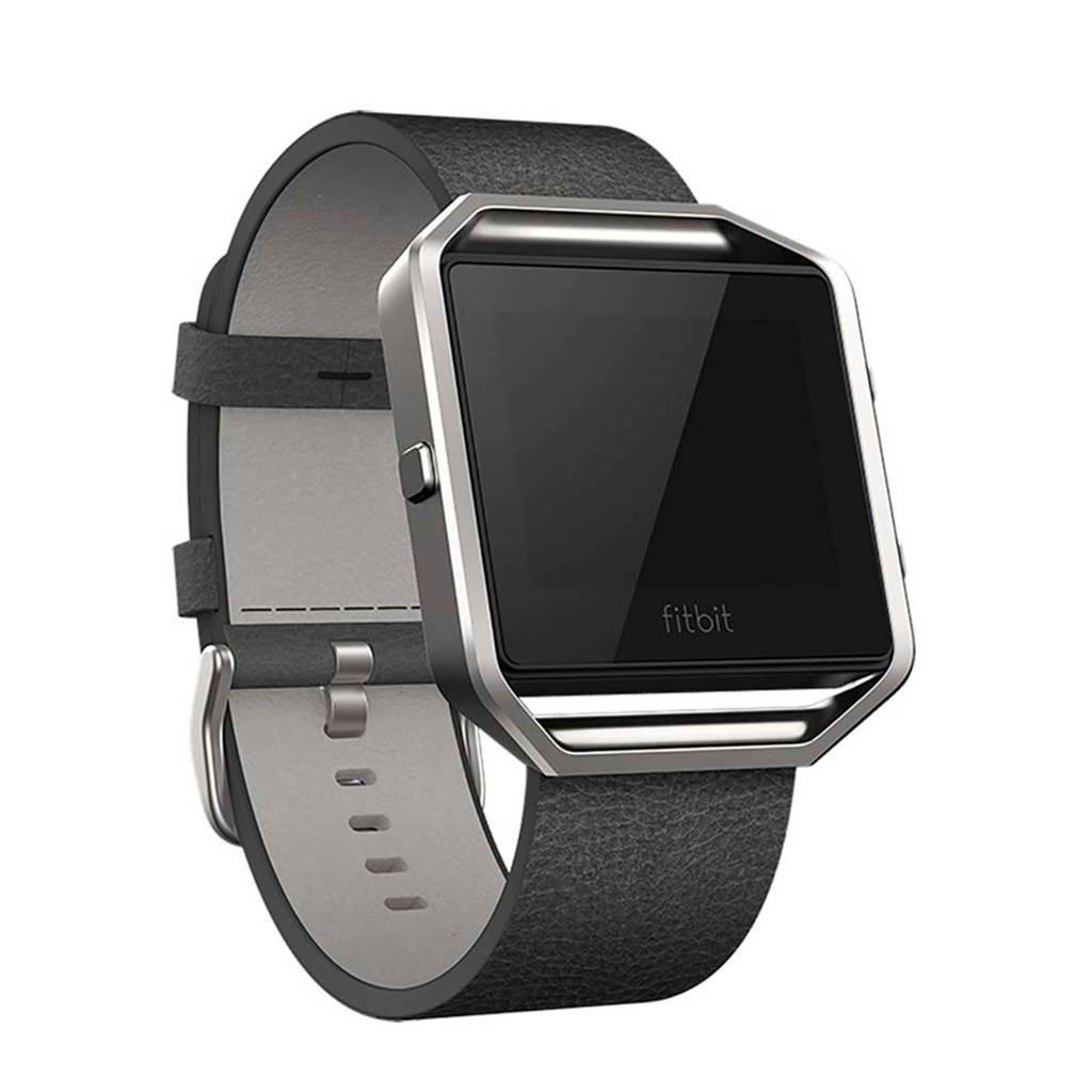 Fitbit leren horlogeband, Zwart