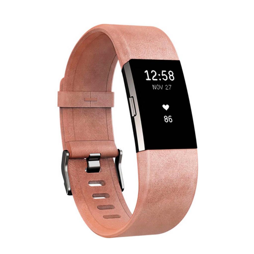 Fitbit leren horlogeband, Roze