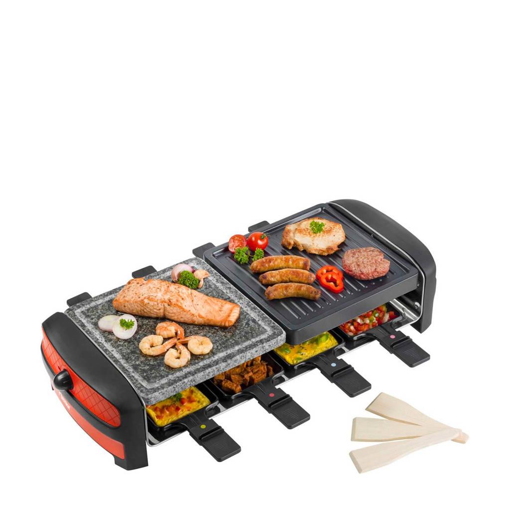 Bestron ARC800 raclette grill, Zwart