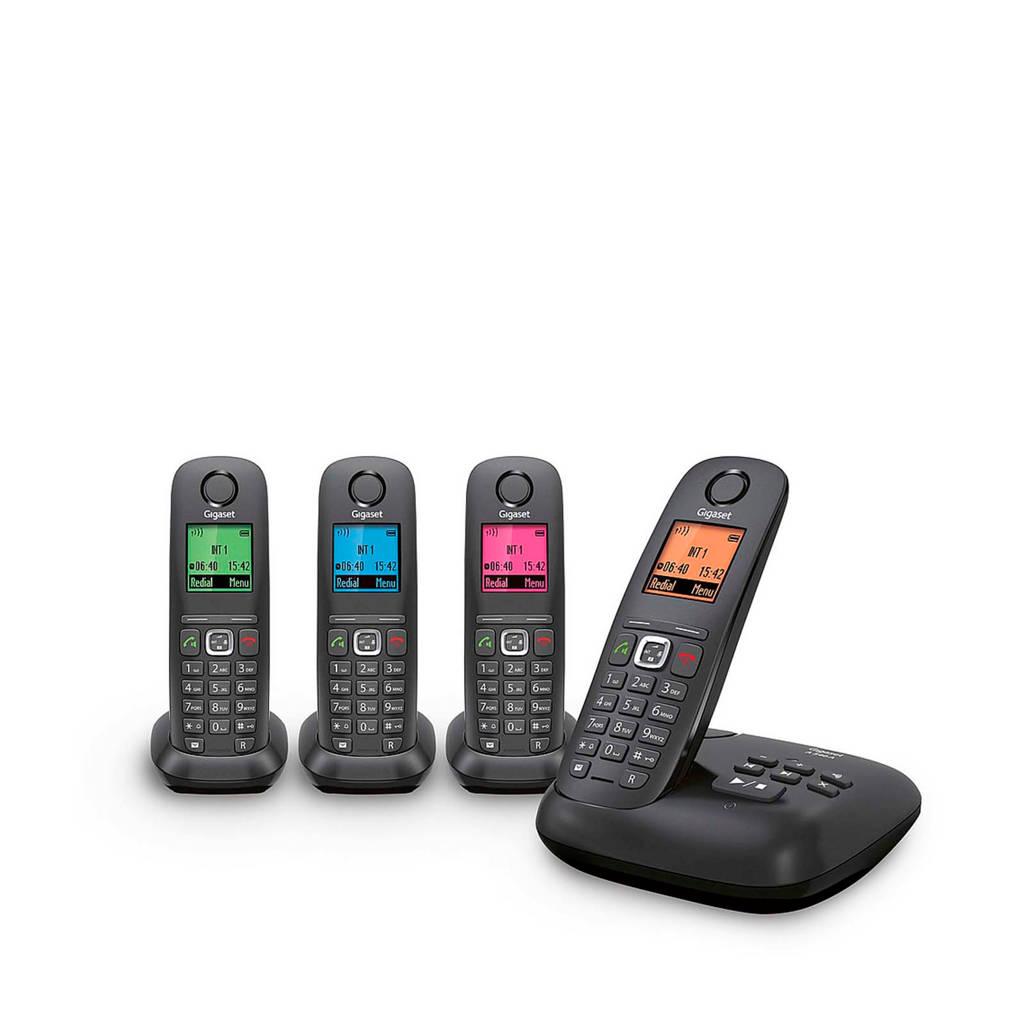 Gigaset A540A Quattro huistelefoon, Zwart
