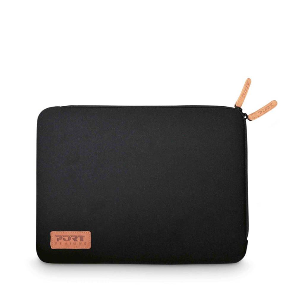 Port Torino 13,3 inch laptop sleeve, Zwart