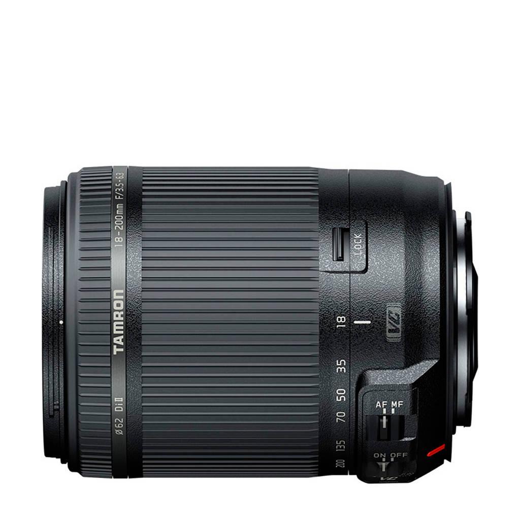 Tamron 18-200mm F/3,5-6,3 Di II VCNikon Lens, Zwart