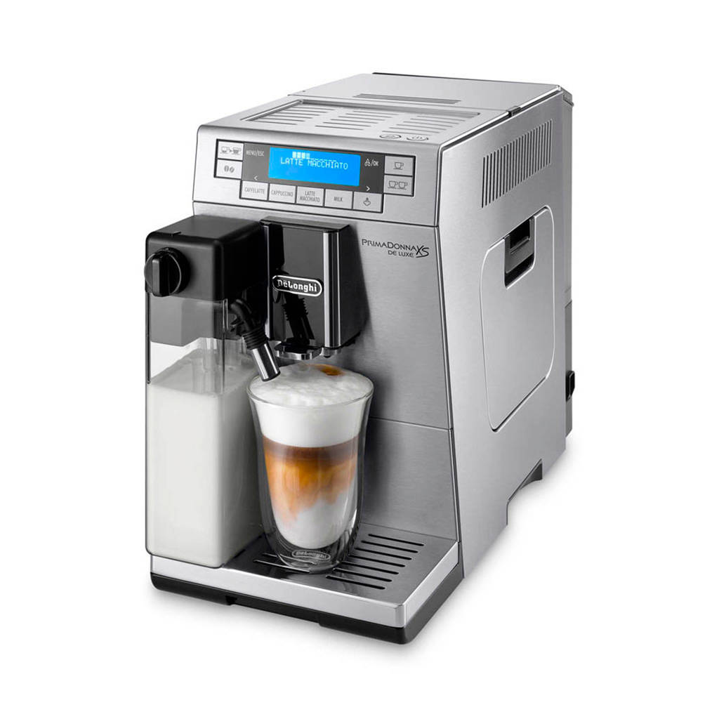 DeLonghi ETAM36.365.M Prima Donna XS De Luxe koffiemachine, Zilver