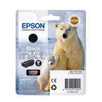 Epson BEER ZWART XL T2621 inktcartridge, Zwart