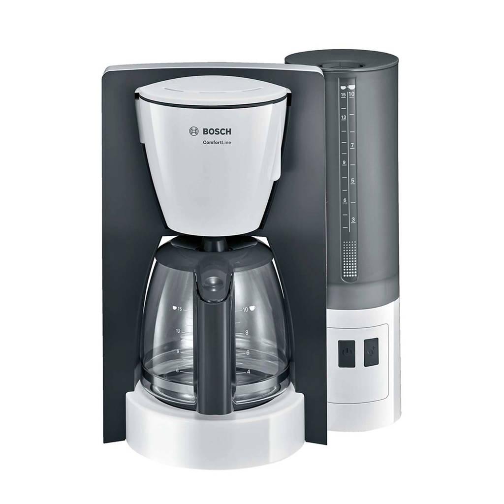 Bosch TKA6A041 koffiezetappraat, Grijs, wit, Glazen kan