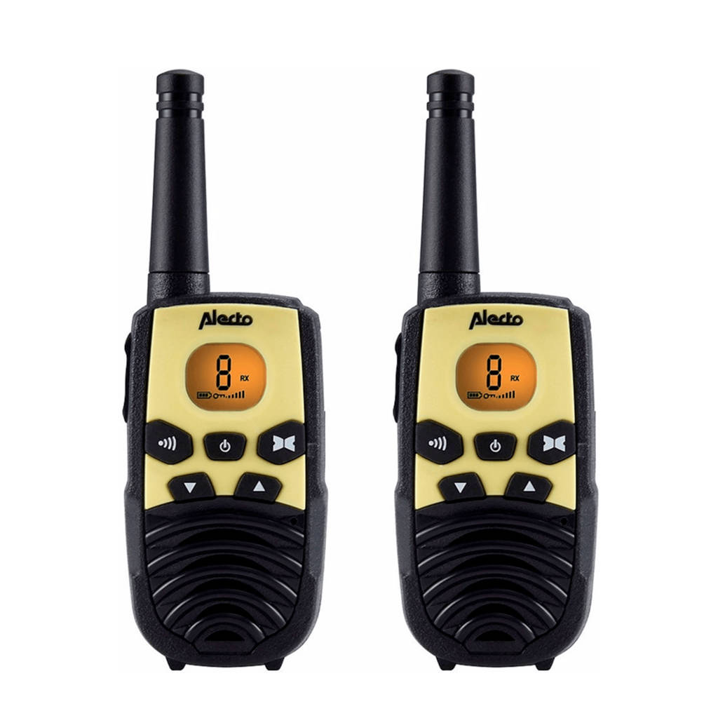 Alecto FR-10 portofoon, Zwart/geel