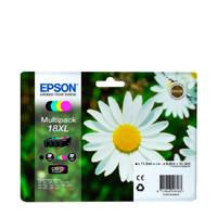 Epson PACK T1816XL 4 multpack inktcartridge (zwart+kleur), Zwart, Cyaan, Geel en Magenta
