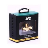 JVC antennekabel Coax T-splitter goud
