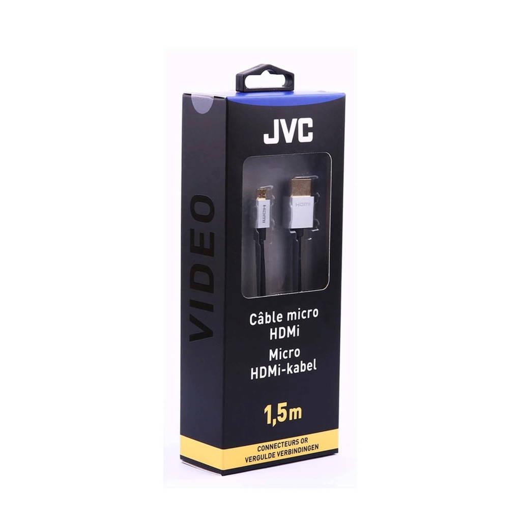 JVC HDMI kabel micro HDMI 1.5 m, Zwart
