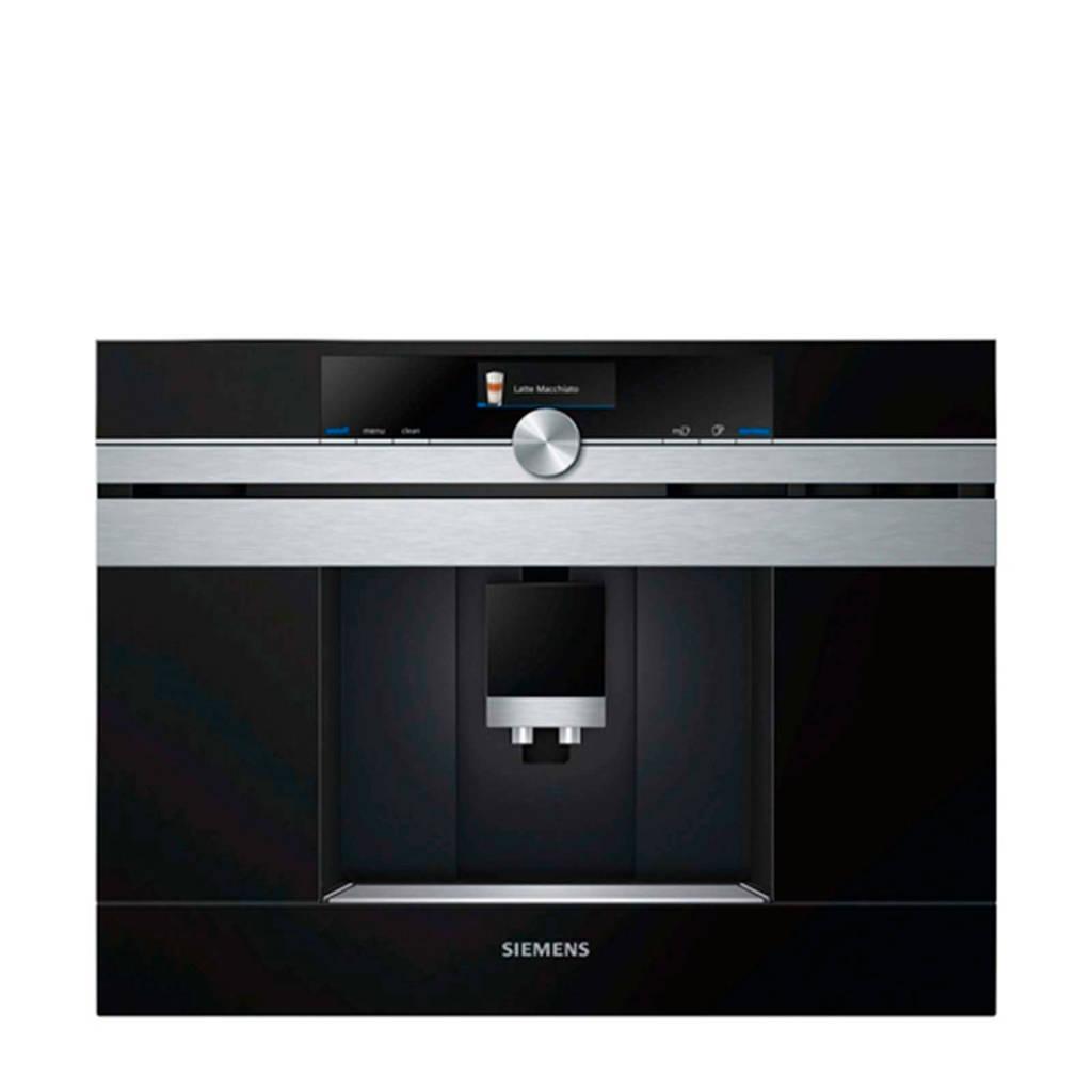 Siemens CT636LES6 Home Connect inbouw koffiemachine, Zwart