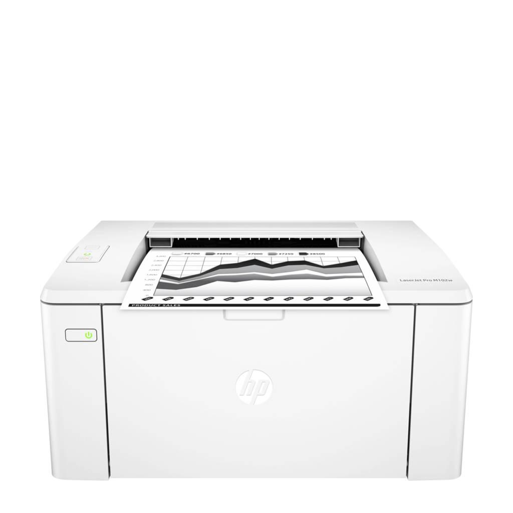 HP LaserJet Pro M102w laserprinter, Wit