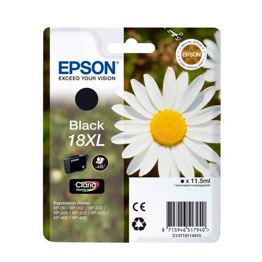 Epson 18XL ZWART inkcartrigde, Zwart