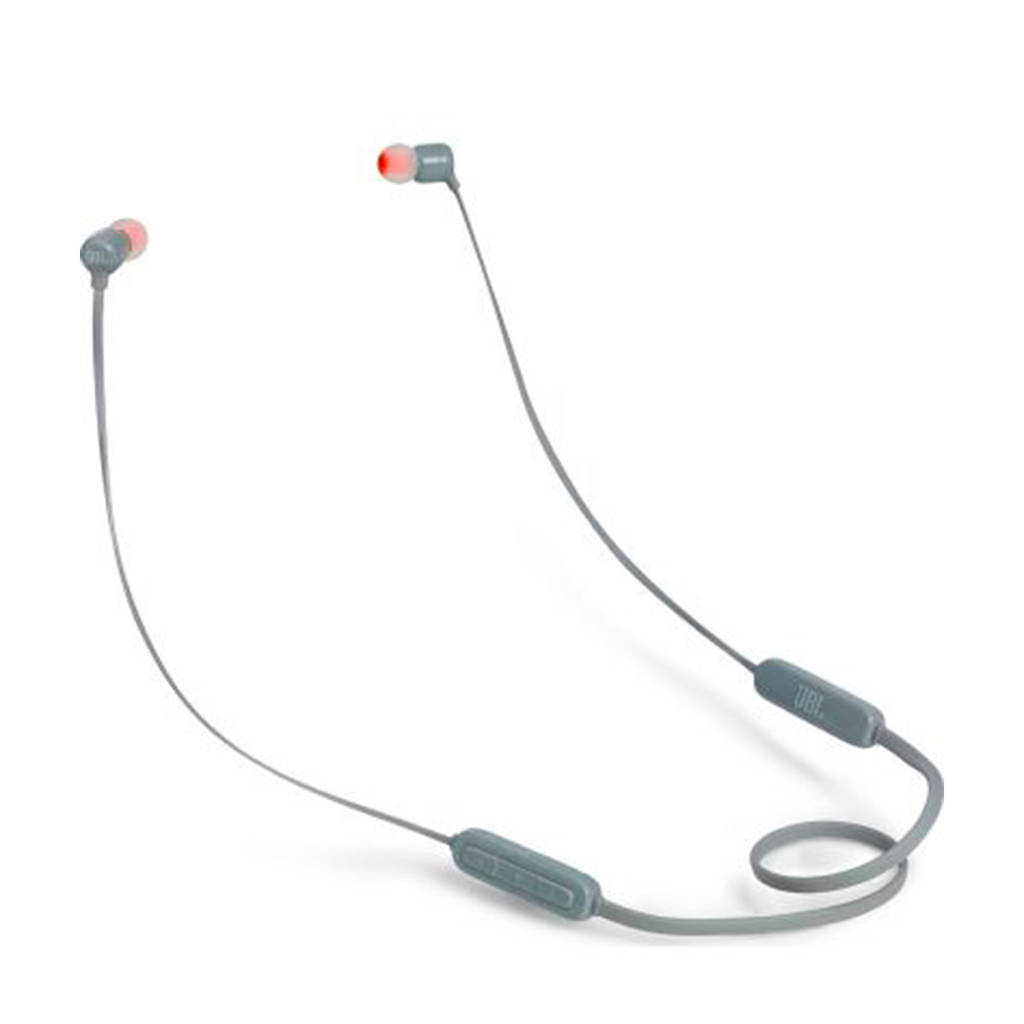 JBL T110 draadloze Bluetooth oortjes, Grijs