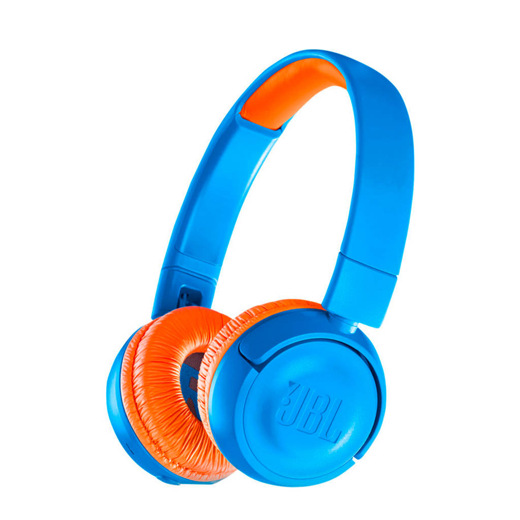 JBL JR300BT Bluetooth on-ear koptelefoon (blauw), Blauw, Oranje