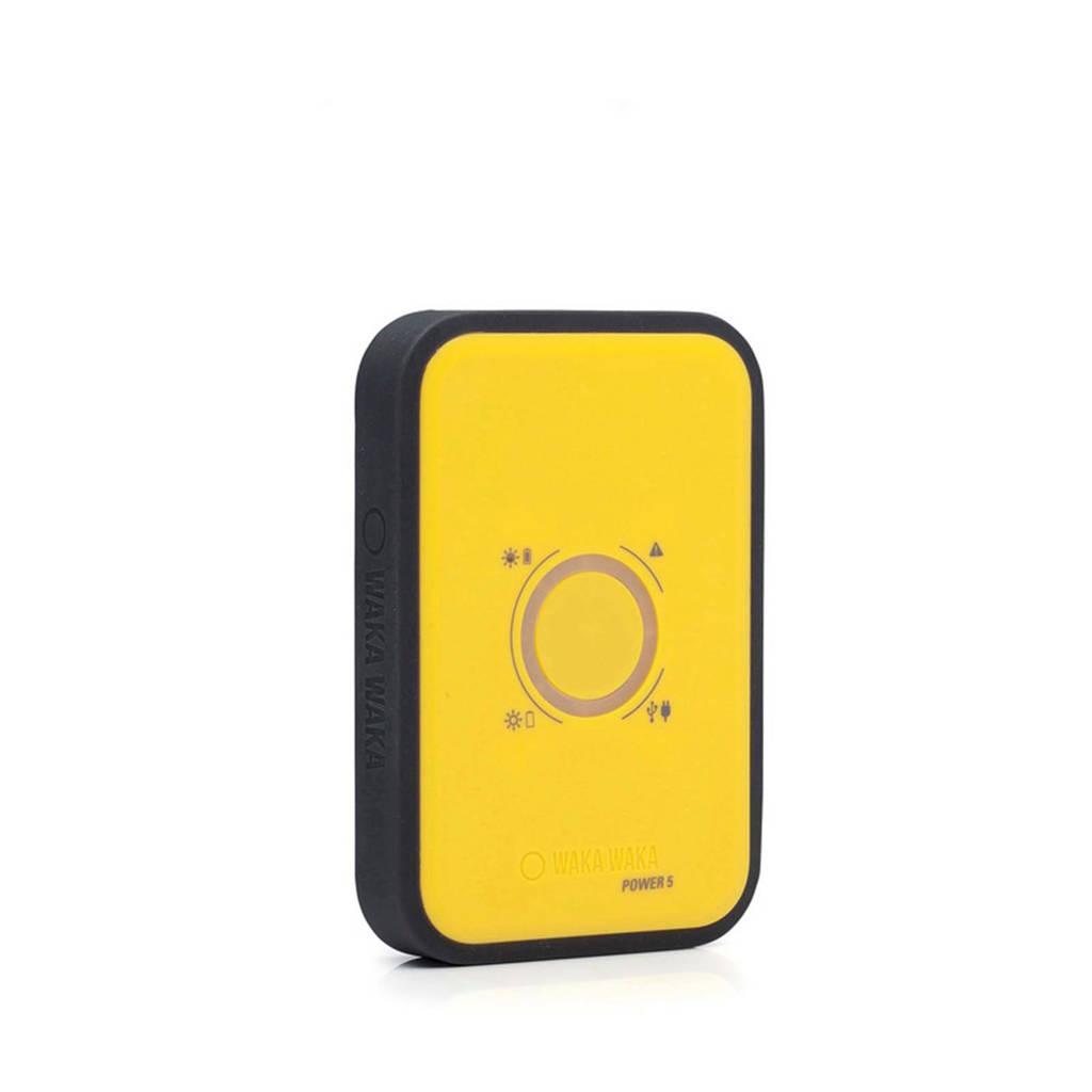 Wakawaka Power 5 powerbank 5000 mAh, Black,Yellow