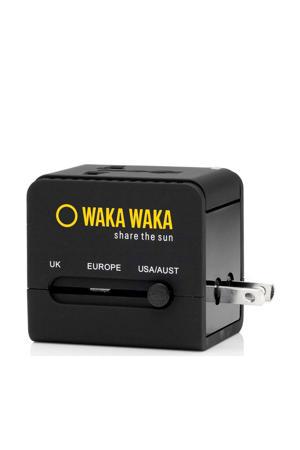 wereld reis-adapter en USB-oplader