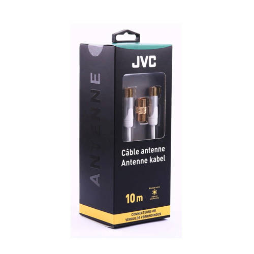 JVC antennekabel COAXIAL CABLE WHITE MALE-MALE ADAPTOR FEMALE-FEMA