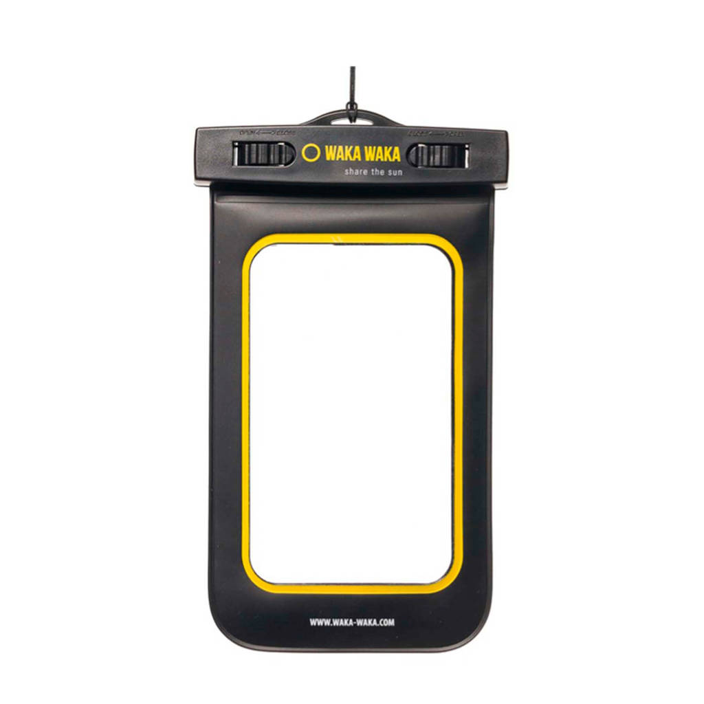 Wakawaka waterproof telefoonhoesje, Zwart, transparant