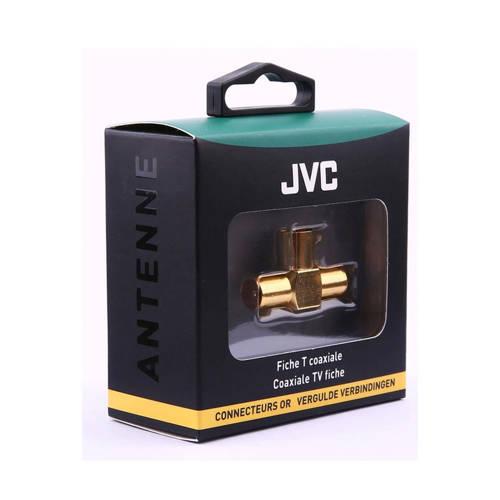 JVC antennekabel COAXIAL ADAPTOR T 1 X FEMALE-2 X MALE GOLD