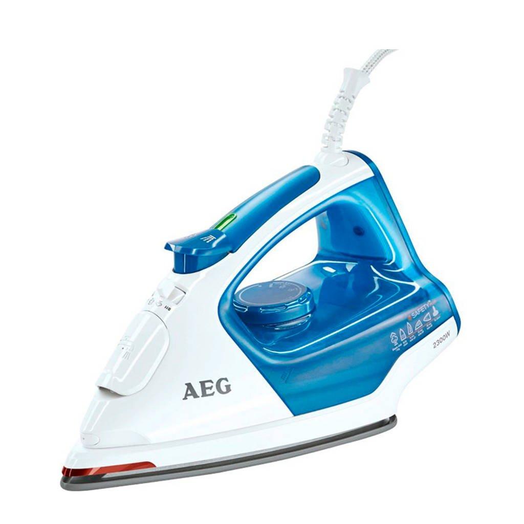 AEG DB5220 stoomstrijkijzer, Blauw, wit