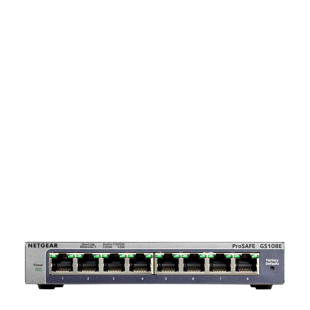 Netgear ProSafe GS108E switch, Zwart