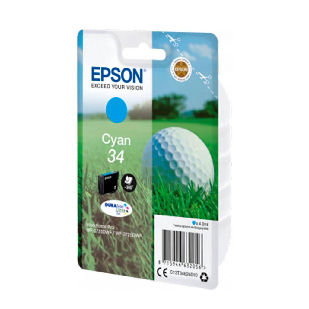 Epson GOLFBAL T3462 CYAN inktcartridge (cyaan), Cyaan