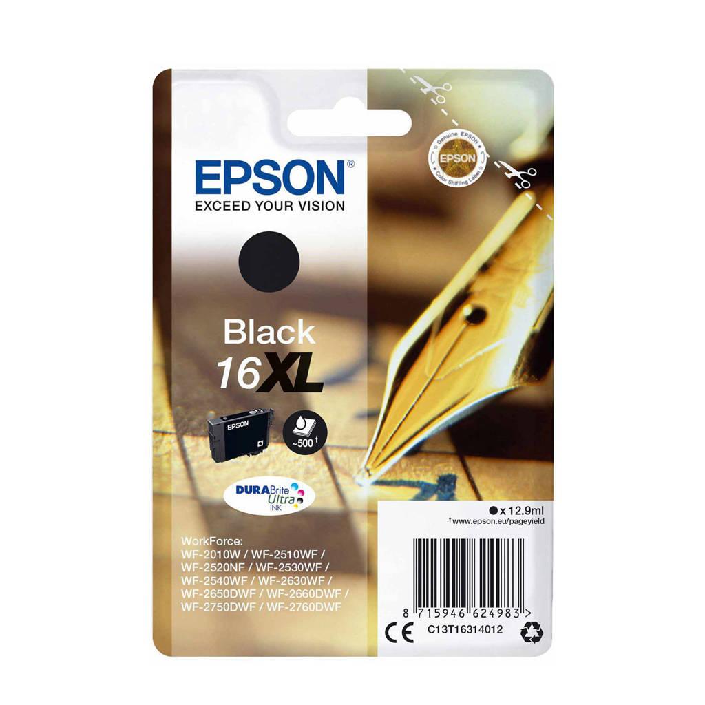 Epson PLUME ZWART XL T1631 cartridge, Zwart