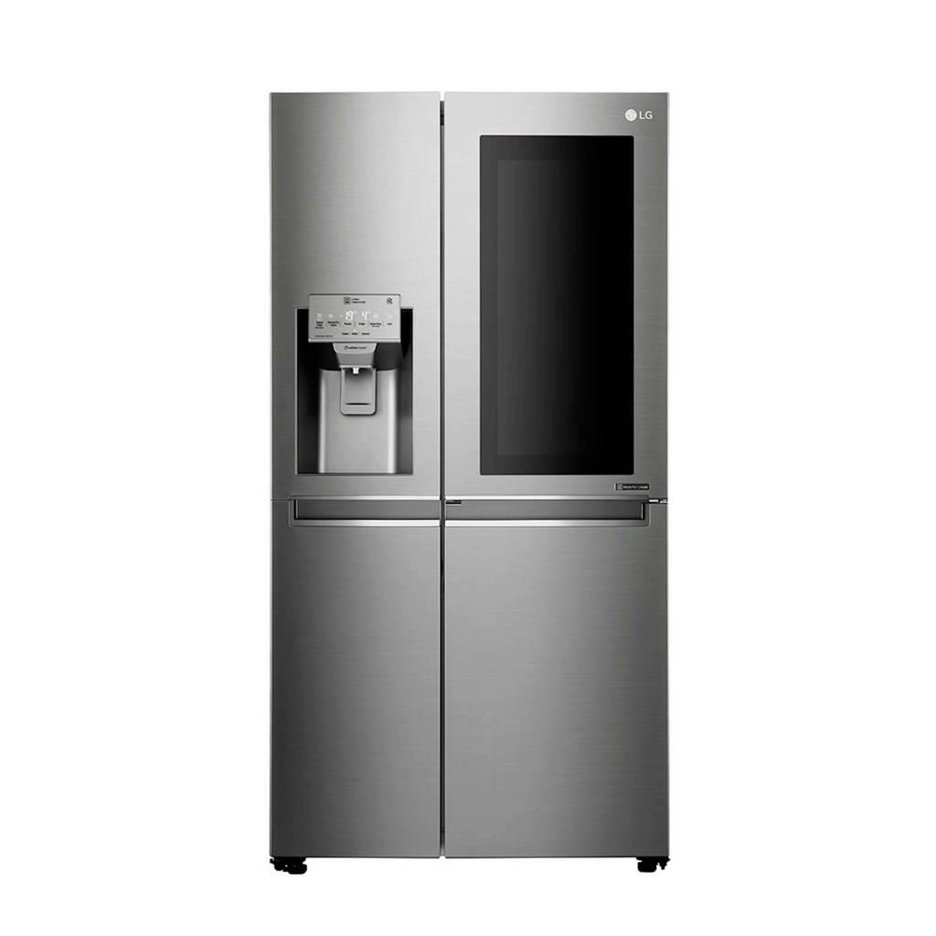 LG GSX960NEAZ Instaview Door-in-Door Amerikaanse koelkast, Zilver